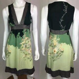 Anthro 100% Silk Gorgeous Dress